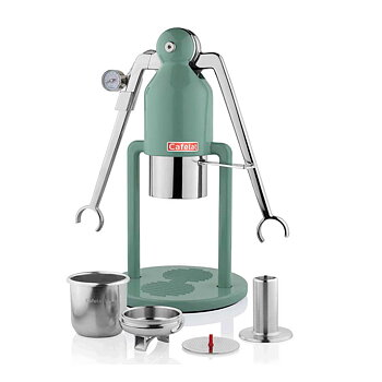 Cafelat - Robot espressomaskin - Manuell espressomaskin - Retrogrön