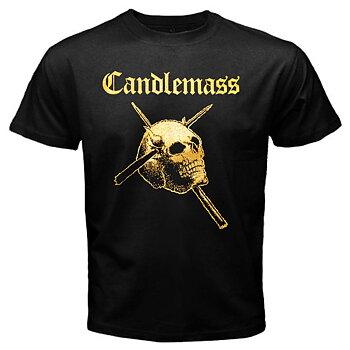 Candlemass - T-shirt, Gold Skull