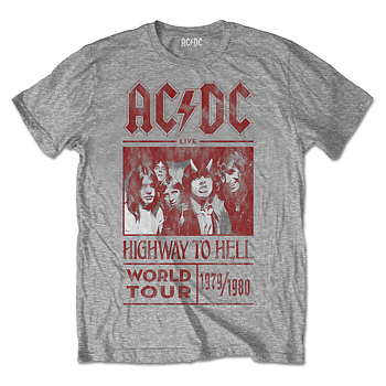 AC/DC - T-SHIRT, HIGHWAY TO HELL WORLD TOUR 1979/1980