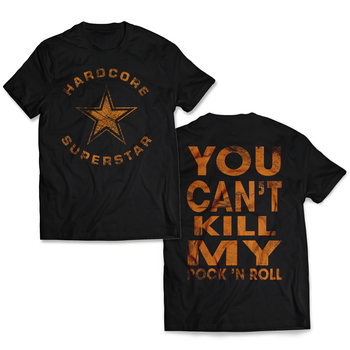 HARDCORE SUPERSTAR - T-SHIRT, VINTAGE TRASH LOGO - YCKMRNR (ORANGE)