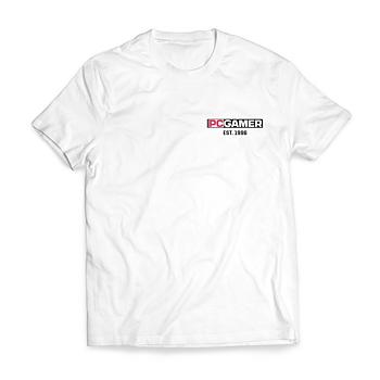 PC Gamer Est. 1996 – T-shirt herr (Vit)