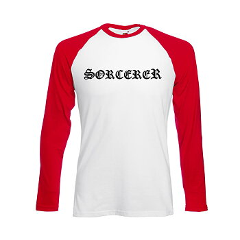 Sorcerer - Baseball, Logo (Red/White)
