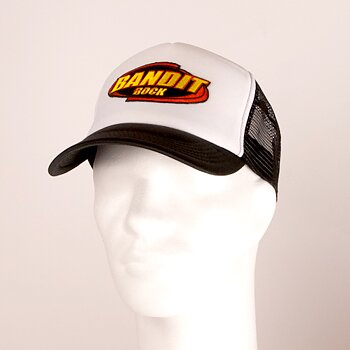 BANDIT - TRUCKER CAP, LOGO (BLACK/WHITE)