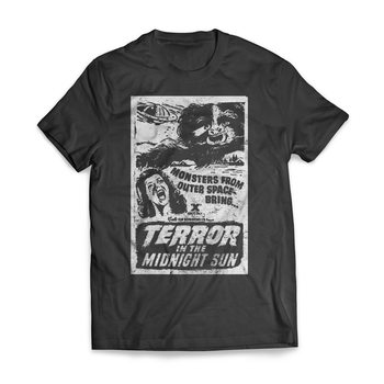 RYMDINVASION - T-SHIRT, TERROR IN THE MIDNIGHT SUN