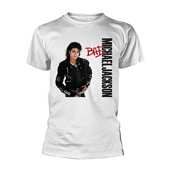MICHAEL JACKSON - T-SHIRT, BAD WHITE