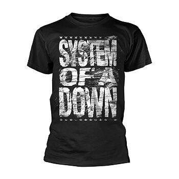 SYSTEM OF A DOWN - T-SHIRT, DISTRESSED LOGO