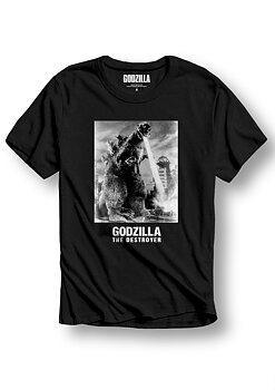 GODZILLA - T-SHIRT, CF BW GODZILLA IMAGE