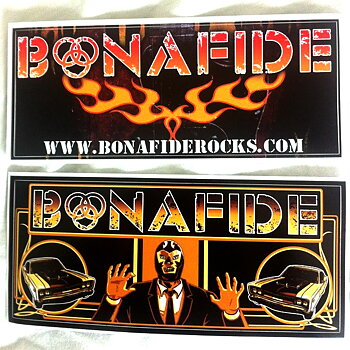 BONAFIDE - 2 STICKERS