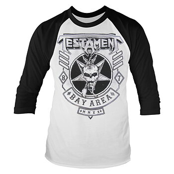 TESTAMENT - BASEBALL, BAY AREA 87 (WHITE) EUROPE 2020 TOUR