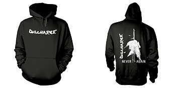DISCHARGE - HOODIE, NEVER AGAIN