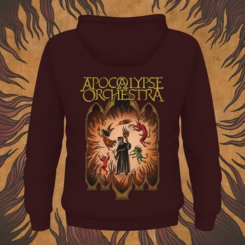 APOCALYPSE ORCHESTRA - ZIP HOOD, THE END IS NIGH (BURGUNDY)