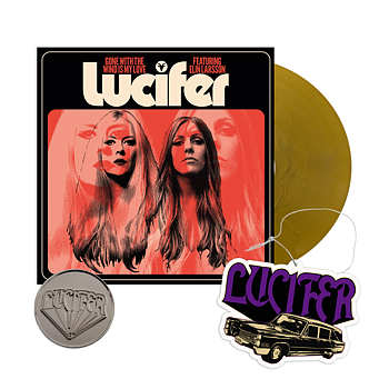 """LUCIFER - GONE WITH THE WIND IS MY LOVE, 7"""" VINYL (GOLD) - BUNDLE"""