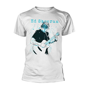 ED SHEERAN - T-SHIRT, GUITAR LINE ILLUSTRATION