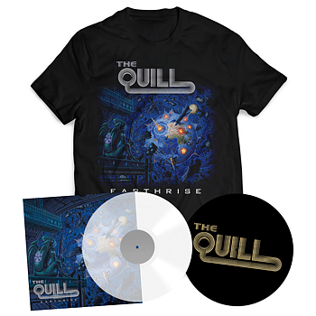THE QUILL - EARTHRISE BUNDLE (CLEAR VINYL LP + T-SHIRT + SLIPMAT)