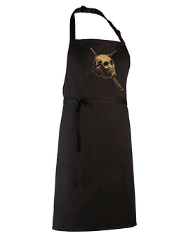 Candlemass - Gold Skull Apron