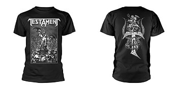 TESTAMENT - T-SHIRT, PITCHFORK HORNS