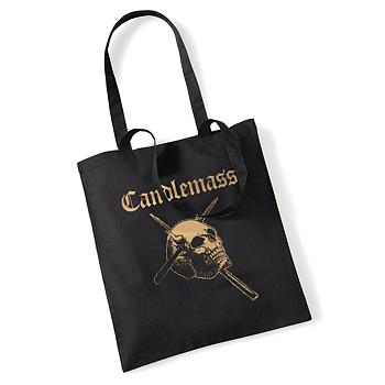 Candlemass - Tote bag/Vinyl bag, Gold Skull