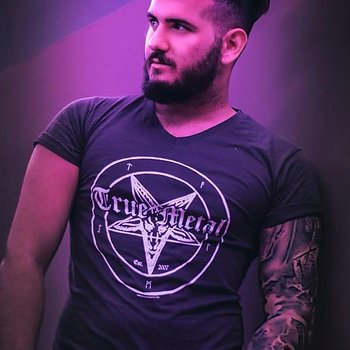 True Metal Brand - Nightfall Grey V-Neck T-shirt