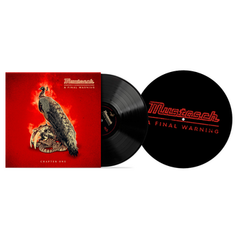 "MUSTASCH - A FINAL WARNING - CHAPTER ONE (10"" BLACK VINYL) SLIP BUNDLE"