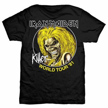 IRON MAIDEN - T-SHIRT, KILLER WORLD TOUR 81