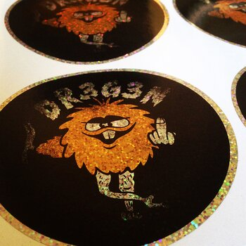 DREGEN - METAL FLAKE STICKER, TROLL
