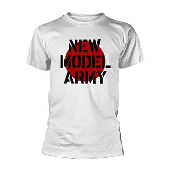NEW MODEL ARMY - T-SHIRT, LOGO (WHITE)
