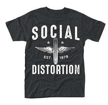 SOCIAL DISTORTION - T-SHIRT, WINGED WHEEL