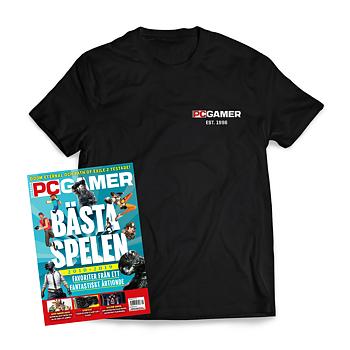 1 års prenumeration på Svenska PC Gamer + t-shirt