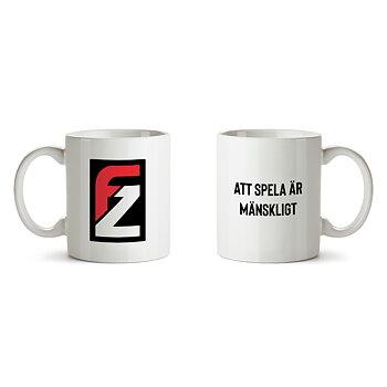 """FZ Logo """"Att Spela Är Mänskligt"""" – Kaffemugg"""