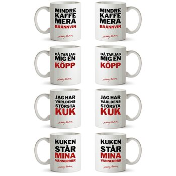 EDDIE MEDUZA - MUGS, 4-PACK