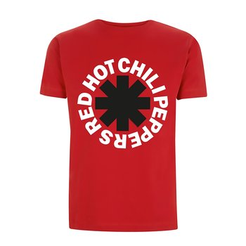 RED HOT CHILI PEPPERS - T-SHIRT, CLASSIC B&W ASTERISK (RED)