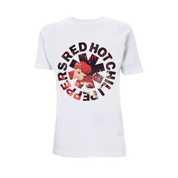 RED HOT CHILI PEPPERS - T-SHIRT, ONE HOT ASTERISK (WHITE)