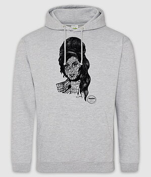 GAFFA HEROES - HOODIE, AMY (HEATHER GREY)