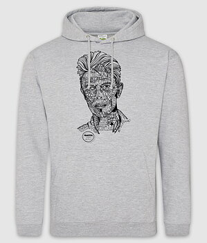 GAFFA HEROES - HOODIE, DAVID (HEATHER GREY)