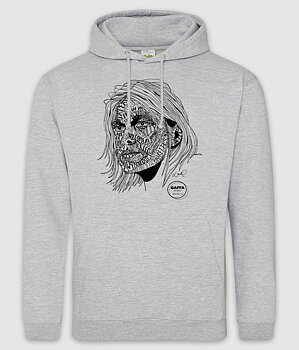 GAFFA HEROES - HOODIE, KURT (HEATHER GREY)