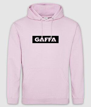 GAFFA - HOODIE, LOGO (BABY PINK)