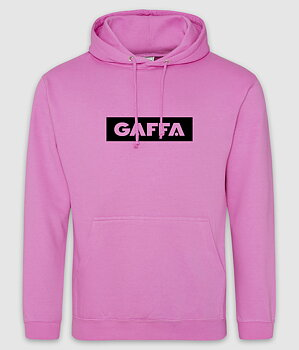 GAFFA - HOODIE, LOGO (CANDYFLOSS PINK)