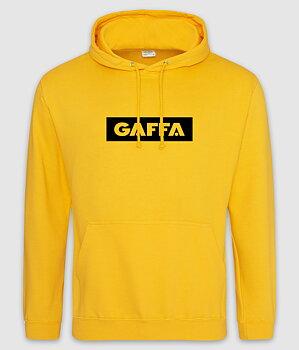 GAFFA - HOODIE, LOGO (GOLD)