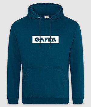 GAFFA - HOODIE, LOGO (INK BLUE)