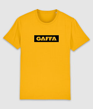 GAFFA - T-SHIRT, LOGO (SPECTRAL YELLOW)