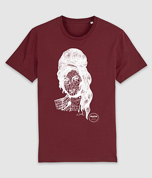 GAFFA HEROES - T-SHIRT, AMY (BURGUNDY)