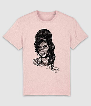 GAFFA HEROES - T-SHIRT, AMY (HEATHER PINK)