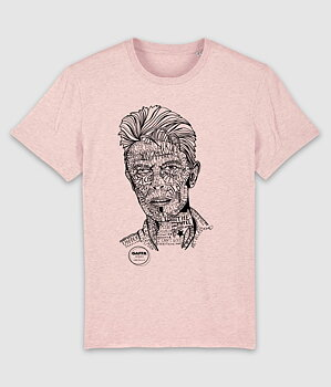 GAFFA HEROES - T-SHIRT, DAVID (HEATHER PINK)