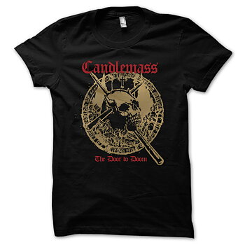 Candlemass - T-shirt, The Door To Doom (Red Logo)