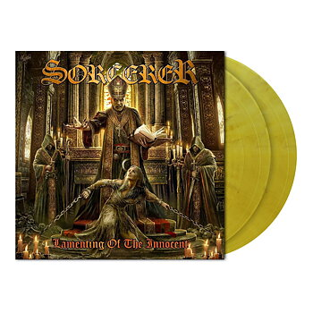 Sorcerer – Lamenting of the Innocent  - 2 LP Clear Mustard Yellow Marbled Vinyl