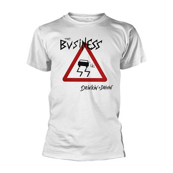 THE BUSINESS - T-SHIRT, DRINKIN + DRIVIN (WHITE)