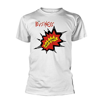 THE BUSINESS - T-SHIRT, SMASH THE DISCOS (WHITE)