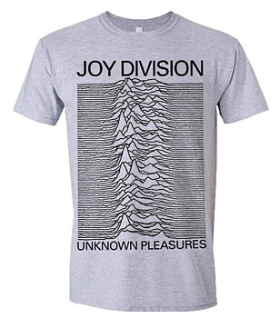 JOY DIVISION - T-SHIRT, UNKNOWN PLEASURES (GREY)
