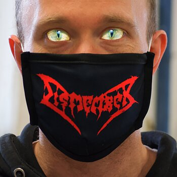 DISMEMBER - PROTECTION MASK, LOGO (RED)