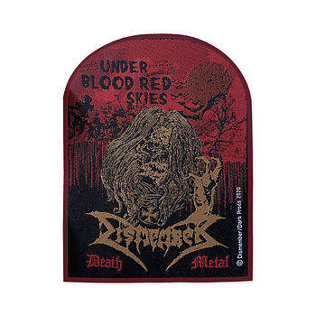 DISMEMBER - PATCH, UNDER BLOOD RED SKIES (RED BORDER)